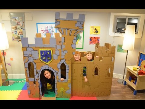 Build a cardboard castle fort do it yourself for Build a castle house