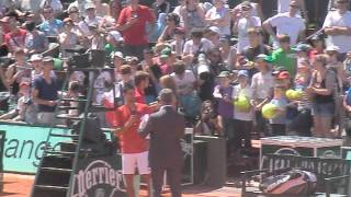 Novak Djokovic Qui Parle En Français. Roland Garros 2012