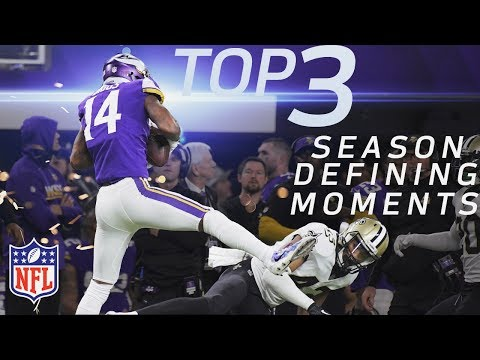 Top 3 Season-Defining Moments on the Road to Super Bowl LII for Final 4 Teams | NFL Highlights (видео)