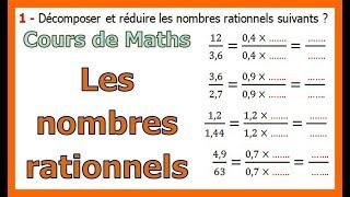 Maths 3ème - Les nombres rationnels Exercice 4