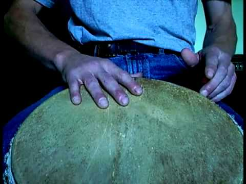 Djembe Lesson : Technique : Bass tone tonpalo slap
