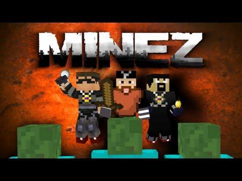 Minecraft: [UNCUT] MineZ w/ AntVenom and SkyDoesMinecraft! [Part 1 of 2]