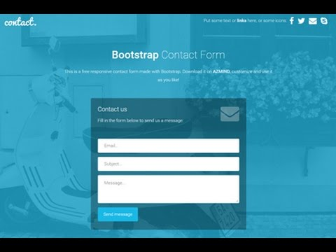 , title : 'Create a Contact Us Page Example | Create a Business Website using html PHP javascript and css PART2'