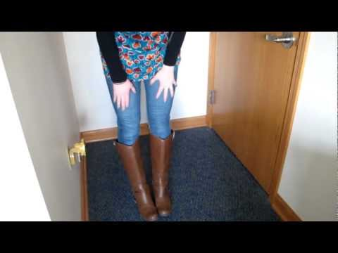 OOTD: Print & Riding Boots