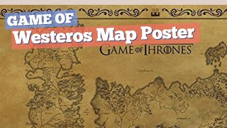 Westeros Map Poster // Game Of Thrones Hey! Game Of Thrones fan? Click the circle for details!