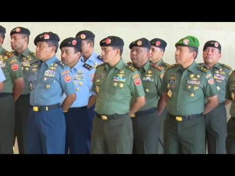 Laporan Korps Kenaikan Pangkat 16 Perwira Tinggi TNI