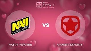 Natus Vincere vs Gambit Esports - RU @Map3 | Dota 2 Valentine Madness | WePlay!