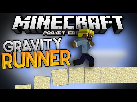 GRAVITY RUNNER!!! - Parkour Speedrun on Falling Sand!! - Minecraft Pocket Edition