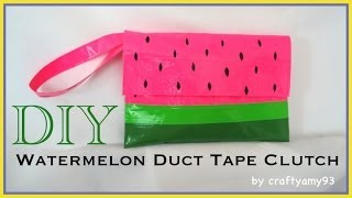 DIY Watermelon Duct Tape Clutch (no sew) - YouTube
