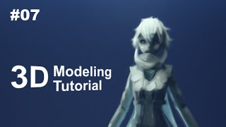 [Part 7/ 40] Anime Character 3D Modeling Tutorial II - Face Outline