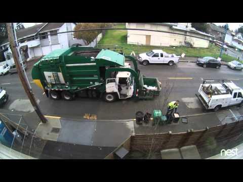 Roskakuski ja liian painava roskapönttö