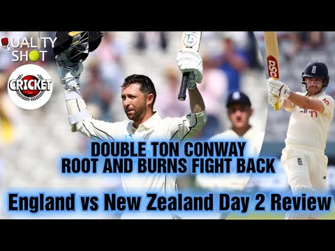 🏏Conway 200 | Root & Burns fight back | England v New Zealand 1st Test Day 2 FT. Cricket 4 Us 2.0