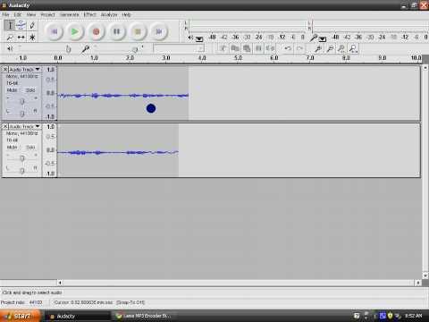 Audacity как сделать файл mp3