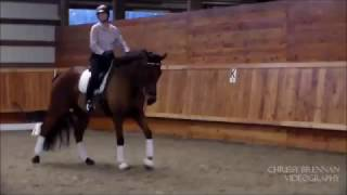 Mercedes Andazola at Sonnenberg Farm attending Stephen Birchall Clinic