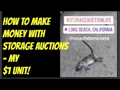 How To Make Money With Storage Auctions - My $1 Unit!