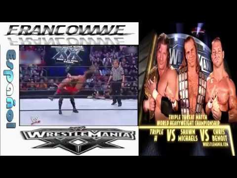 Video Chris Benoit Vs Triple H Vs Shawn Michaels WM 20 download in MP3, 3GP, MP4, WEBM, AVI, FLV January 2017