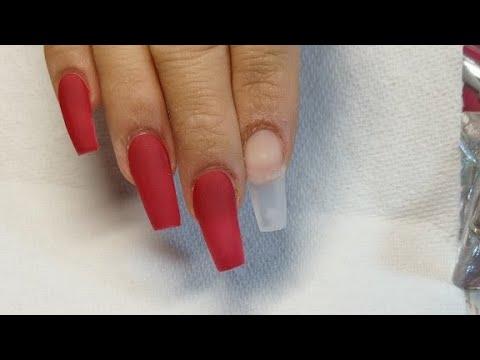 Videos de uñas - Uñas Rojas
