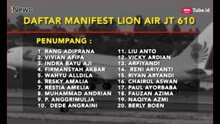 Video Daftar Nama Penumpang dan Kru Pesawat Lion Air JT 610 - iNews Sore 29/10 MP3, 3GP, MP4, WEBM, AVI, FLV November 2018