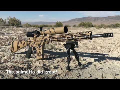1,100 Yards PSA 223 AR15 vs Tikka T3x 243 Bolt Action