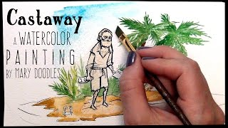 Castaway - a time lapse painting
