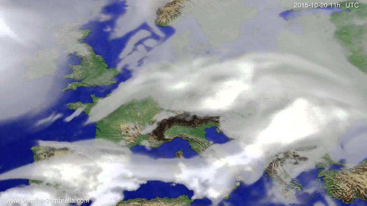 Cloud forecast Europe 2015-10-17