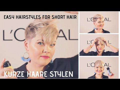 EASY HAIRSTYLES FOR SHORT HAIR NO HEAT Kurze Haare Stylen  SALIRASA