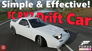 Forza Horizon 4: Widebody, V8 Swapped, FC RX7 Drift Build! Light, Easy, and Precise!!