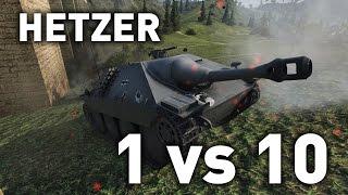 World of Tanks || Hetzer - 1 vs 10