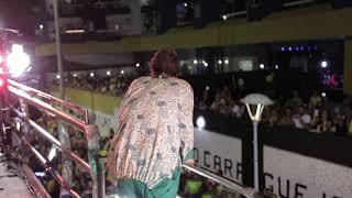 Momento da apresentação de Saulo,no Carnaval do Circuito Dodô (Barra-Ondina)