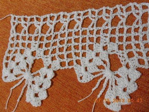 Crochet Orilla de Mariposas