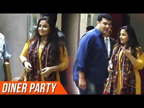 Vidya Balan Enjoys Dinner With Her Family Celebrat