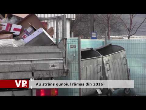 Au strâns gunoiul rămas din 2016