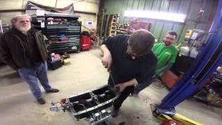 1926 Model T engine rebuild installing crank