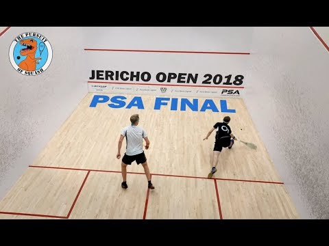 Squash - Henrik Mustonen vs. Michael McCue - Jericho Open 2018 PSA Final