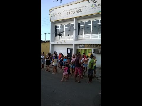 Protesto em Lago AÇu, promovido pelo SINPROESEMMA