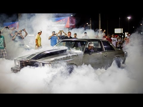 Burnout party after LS fest goes down at gas station
