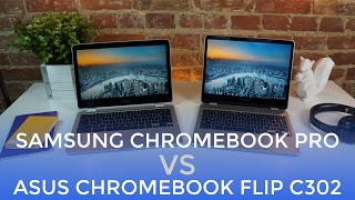 Pre-Order the Samsung Chromebook Pro: http://amzn.to/2r9qJzMSamsung Chromebook Plus - http://amzn.to/2kbbxj9ASUS Chromebook Flip C302 (m3) - https://goo.gl/stWPEF --------------------------------As an answer to many, many questions about which of these Chromebooks is better, we've produced a side-by-side video to hopefully help anyone on the fence.  Both of these Chromebooks are great, but each one has its strengths.Which will you choose?