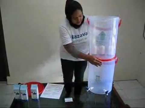 sederhana saringan air bersih water filter pengolahan air 2 wmv