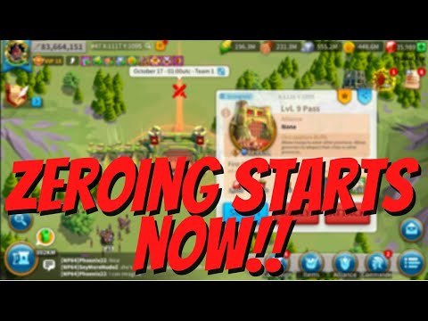 My LvD Pass 9 Open! Expect Multiple Zeroing! Kill Event! Rise of Kingdoms