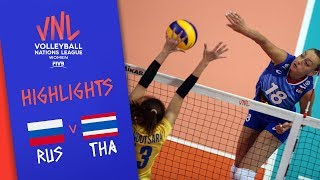 RUSSIA vs. THAILAND - Highlights Women | Week 5 | Volleyball Nations League 2019