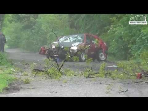4 Rajd Zamkowy 2014 - BIG CRASH Lisowski/Piasecka Peugeot 106 by OesRecords