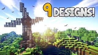 9 Windmill Designs & Ideas! - Minecraft