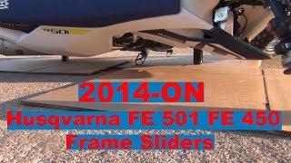 9. T-Rex Racing 2014-On Husqvarna FE 501 FE 450 Frame Sliders