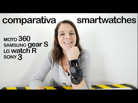 Comparativa SmartWatches Sony 3 vs Moto 360 vs LG watch R vs Samsung Gear S en español