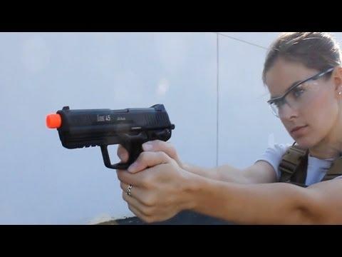 AirSplat OD – KWA HK45 Airsoft Gas Blowback Gun Pistol Ep 128