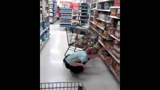Lady on drugs in grocery store