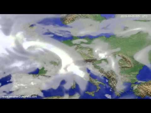 Cloud forecast Europe 2015-10-01