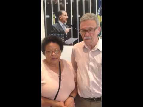 Depoimento: O casal Nelson e Vilma agradecem a equipe do Deputado Vinicius Carvalho