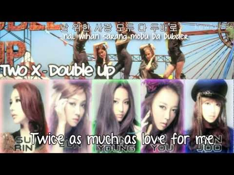 Download Two X - Double Up {Eng Sub + Romanization + Hangul}HD HD Video