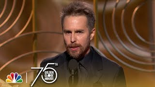 Sam Rockwell Wins Best Supporting Actor at the 2018 Golden Globes